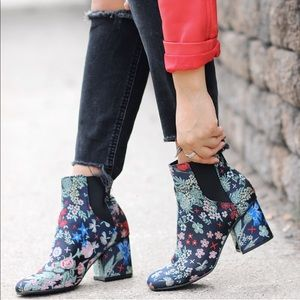 Printed Embroidery Booties